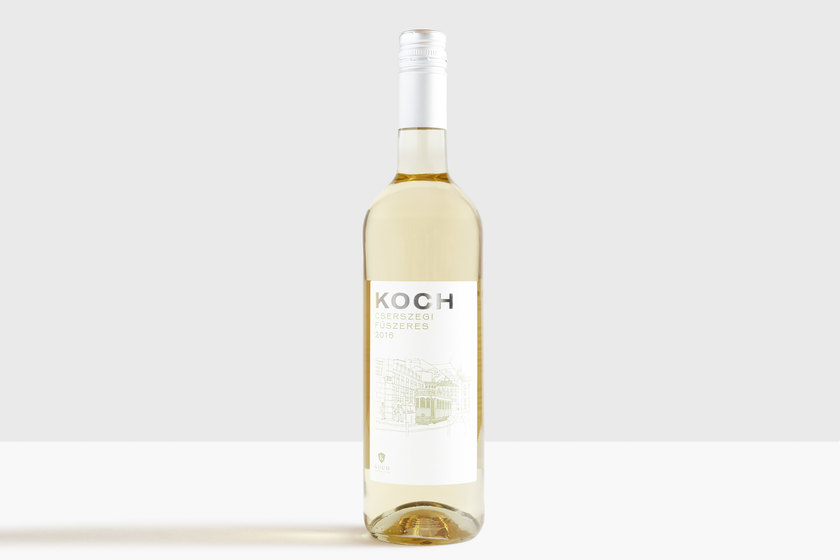 KOCH white wine, design by Praline