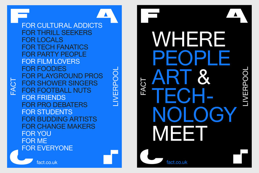 FACT Liverpool poster, design by Praline