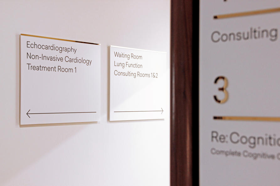 Wimpole Street signage, design by Praline